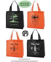 custom printed halloween bags recyclable trick or treat bags