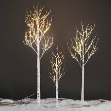 silver birch tree light warm white led light