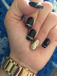 black and gold nails nails pinterest gold nail gold and black
