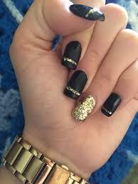 black and gold nails nails pinterest gold nail gold and black