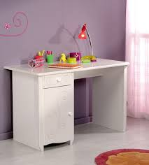 bureau de fille pas cher bureau enfant contemporain blanc megève malicia