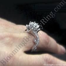 lotus engagement ring on sale the lotus swan 1 32 ctw diamond flower engagement ring