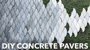 Quikrete Paver Mold by Diy Concrete Patio Pavers Youtube