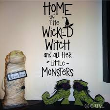 home decor wall art stickers amazon com halloween home of the wicked witch and all her little