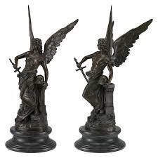 sculpture angel warrior bronze angel warrior sword art garden