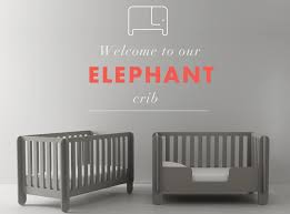 Grey Convertible Cribs Oeuf Nyc Elephant Convertible Crib Grey Growing Your Baby