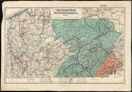 Map Of Pennsylvania by Military Map Of Pennsylvania Digital Commonwealth