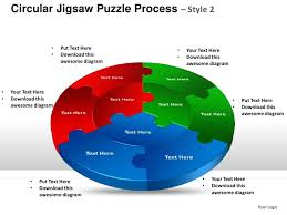 circular jigsaw puzzle process style 2 powerpoint templates
