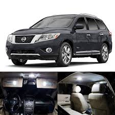 nissan pathfinder xenon bulbs 14 x xenon white led interior light package for nissan pathfinder