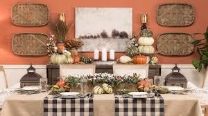 fall buffet table decor youtube