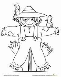 cute scarecrow worksheet education