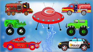 evil to good emergency vehicles cartoon for children fire truck