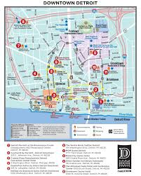 Seattle Downtown Attractions Map by Detroit Maps Michigan U S Maps Of Detroit