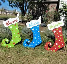 personalized polka dot christmas stockings christmas yard