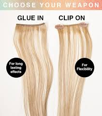 glue in extensions looks has two types of highlight and blusher hair extension