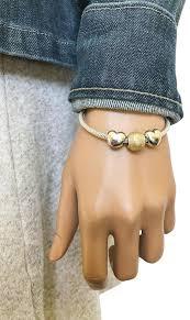 pandora sterling silver clip bracelet images Pandora silver sterling steady heart clip gold glitter bead jpg