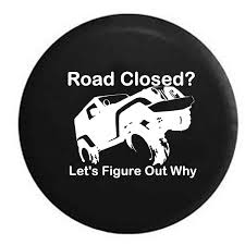 jeep cartoon offroad road closed let u0027s figure out why lifted offroad 4x4 jeep camper