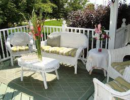 Wicker Style Outdoor Furniture by Perfect White Wicker Patio Furniture Furniture Design Ideas