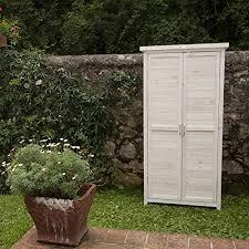 armadietto da balcone armadio a 2 ante in legno sbiancato 69x37x153 provenzio by jarsya