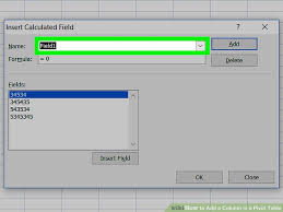 How To Remove Pivot Table How To Add A Column In A Pivot Table 11 Steps With Pictures
