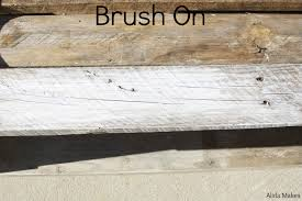 White Wash Wood Diy Pallet Coffe Table With White Wash Paint Instructions