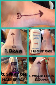 diy temporary tattoo by bria diorio 1 draw your tattoo with