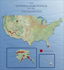United States National Parks Map by 100 Years Of National Park Services Blog