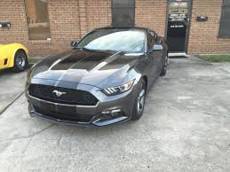 Black Mustang Gt500 American Muscle Graphics Mustang Black Gt500 Style Stripes 10 In