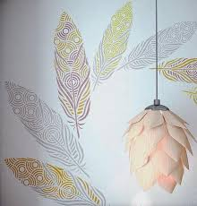 painting stencils for wall art feather wall painting stencils large feather wall art stencils