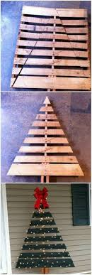 pallet christmas tree diy outdoor wooden pallet christmas trees with lights ultimate