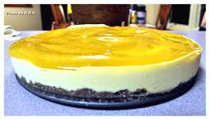 the good karma kitchen almost raw mango cheesecake with mango