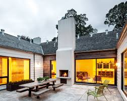 classy house with u shaped design and beautiful entry courtyard