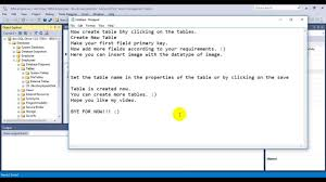 sql server create table primary key how to create database in sql server 2016 youtube