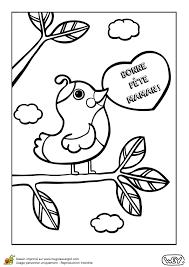 coloriage d u0027un petit oiseau pour la fête des mères