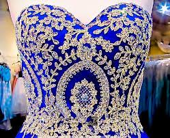 royal blue modest royal blue gold lace cheap quinceanera dresses gown