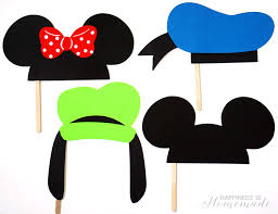 mickey mouse photo booth disney photo booth props craftbnb