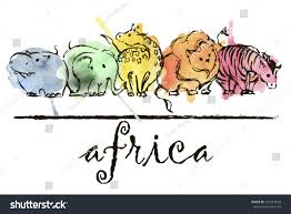 royalty free outline sketch of animals with u2026 261419618 stock