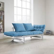 canapé futon canapé futon capitonné convertible structure coloris blanc quito