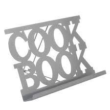porte livre de cuisine en métal gris maison futée