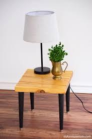 Danish Modern Furniture Legs by Wood Shim Side Table With Tapered Mid Century Modern Legs U2013 Diy