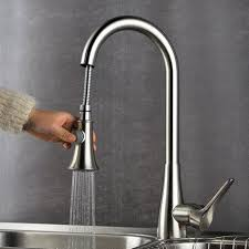 cheap kitchen sinks and faucets deck mounted kitchen sink faucet with pull sprayer inside