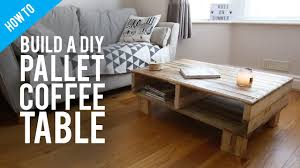 Pallet Furniture Living Room How To Build A Diy Rustic Pallet Coffee Table Youtube