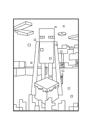 minecraft mutant enderman coloring page with coloring pages eson me