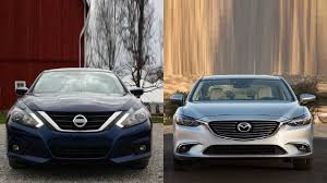 2016 Nissan Altima Vs 2016 Mazda 6 Youtube