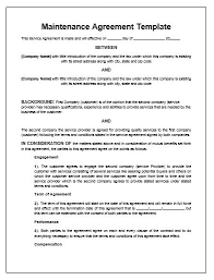 maintenance contract sample 7 maintenance contract templates free