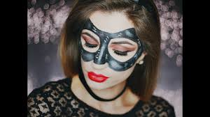 kobieta kot halloween catwoman mask makeup glamgirl youtube