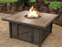 Firepit Gas Agio Franklin 48 Square Porcelain Top Gas Pit