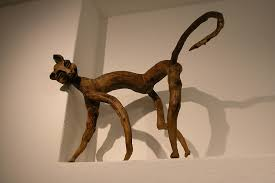 wooden cat wooden cat from tree branch photograph by carl purcell