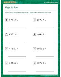 gallery 6th grade math worksheets pdf best games resource