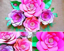 giant flower templates paper flower templates u0026 tutorials
